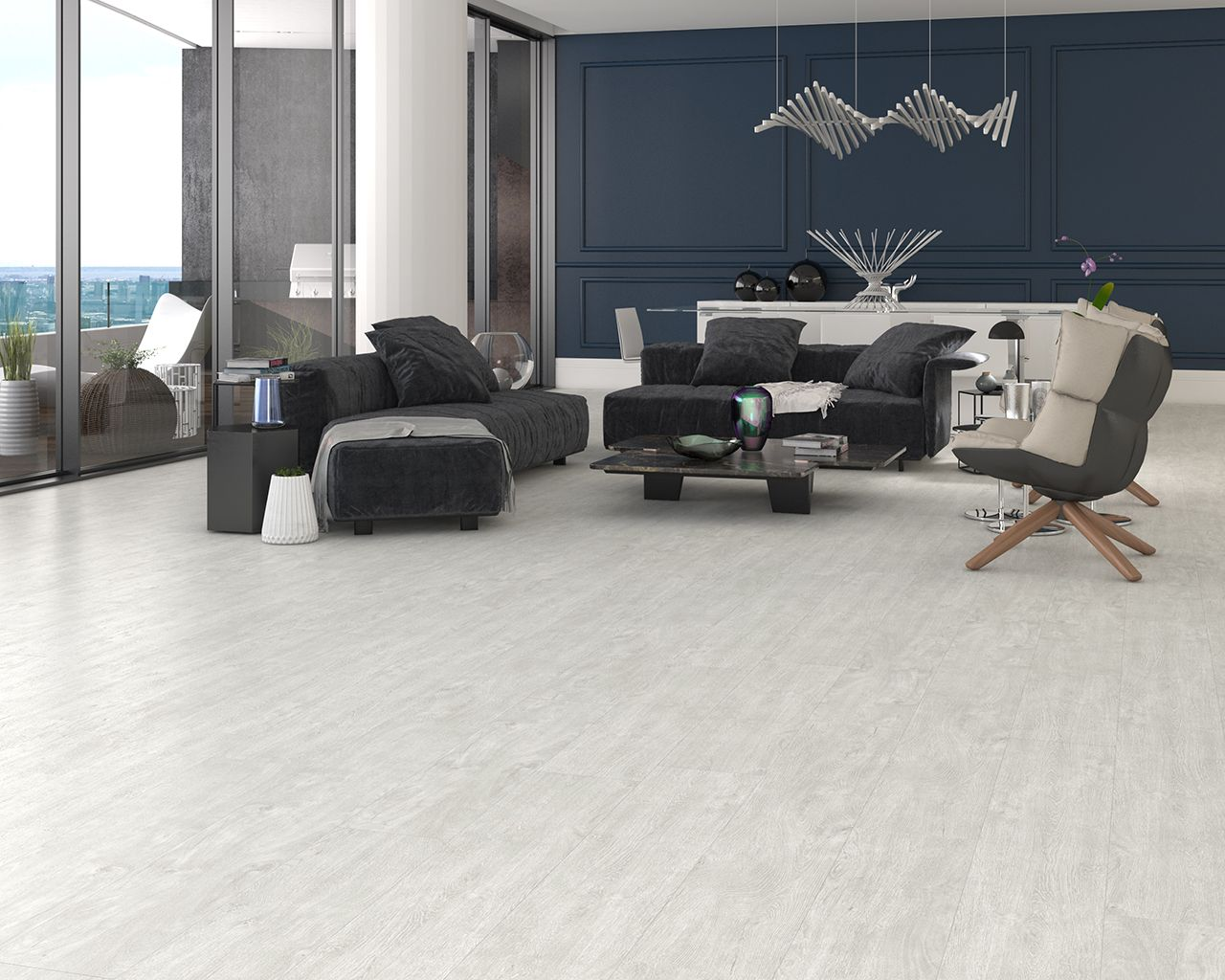 Fortem Grand Suite Whitelog 6.5 mm. Engineered Waterproof Floor