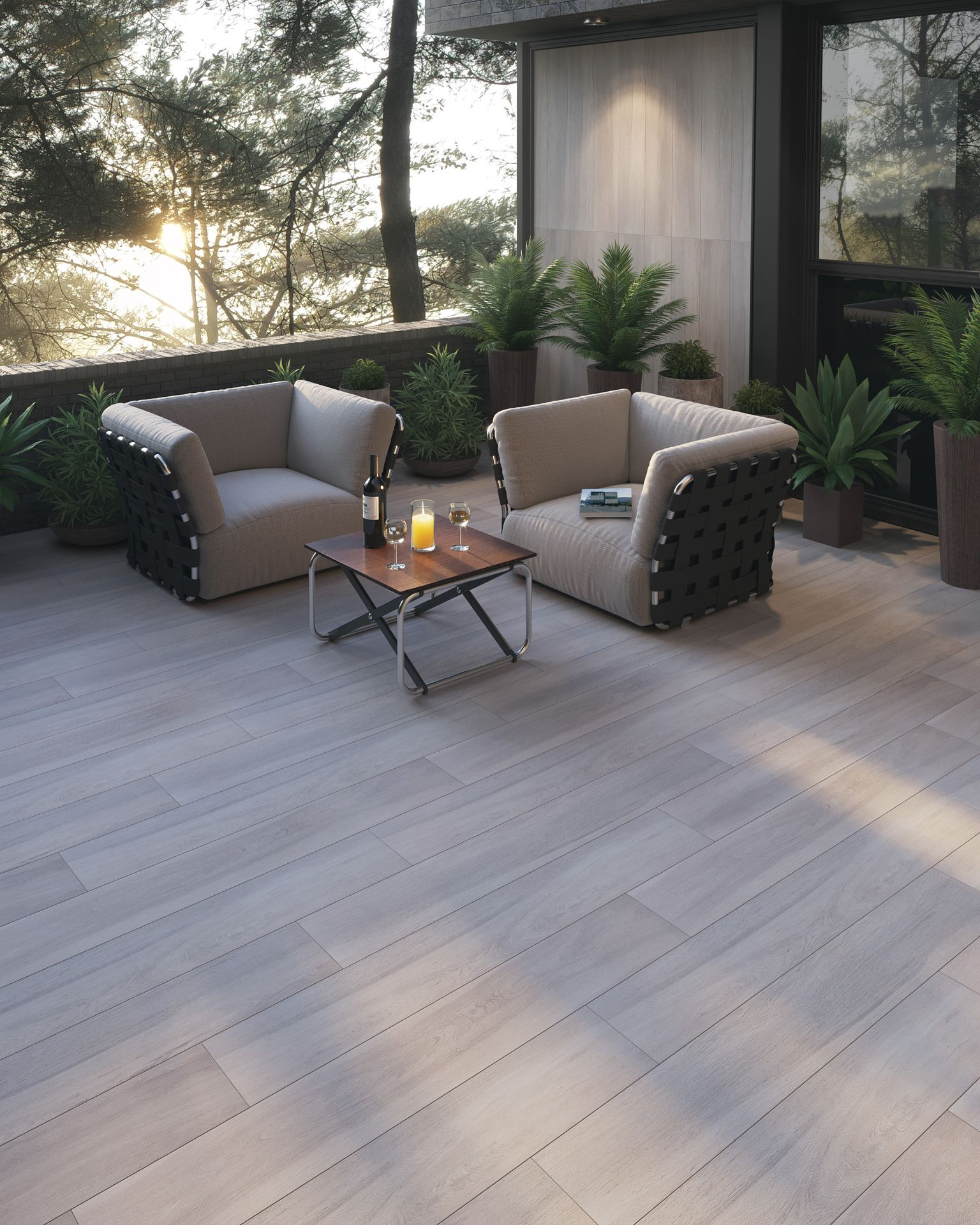 Guayacan Beige 8 x 48 Porcelain Wood Look Tile