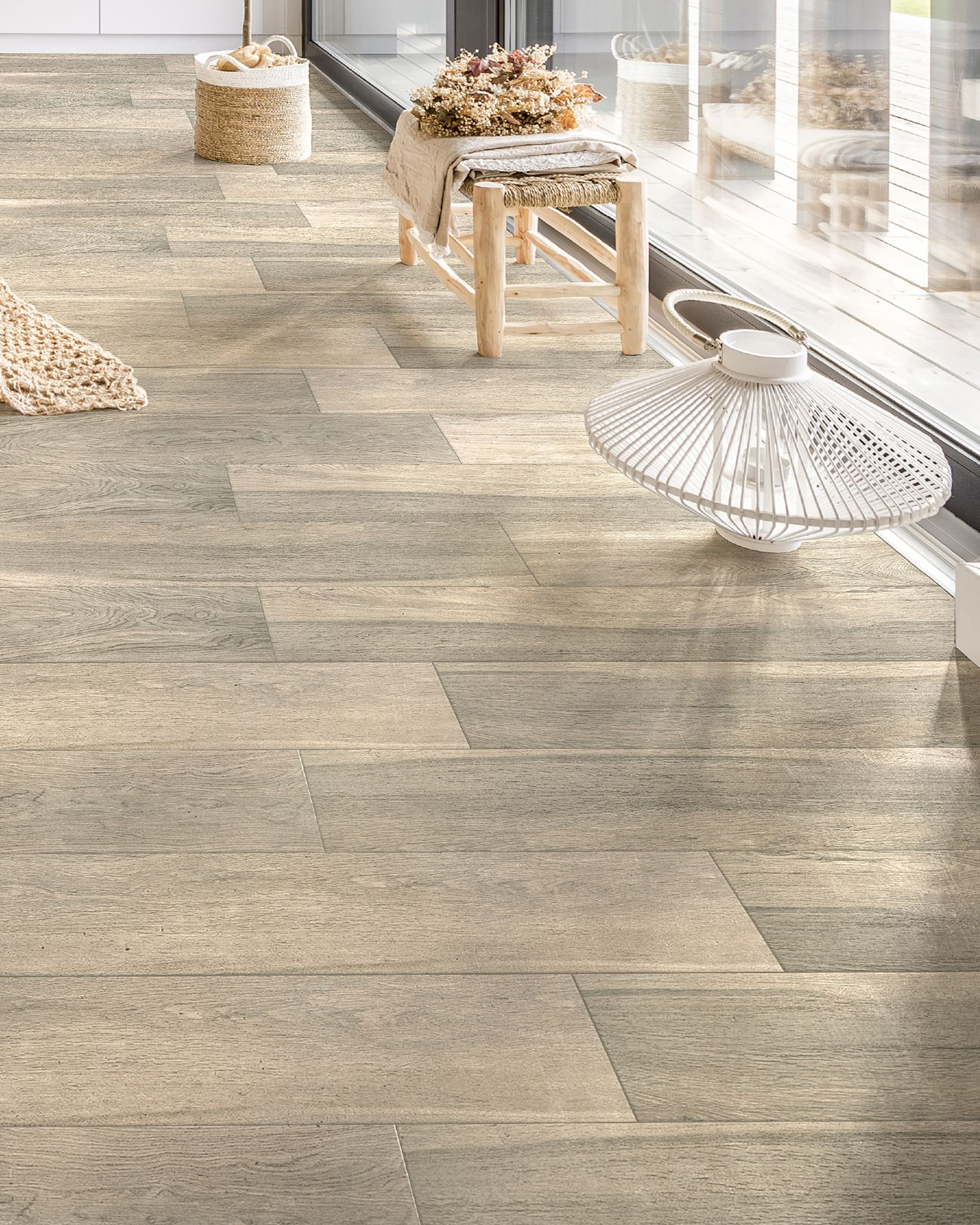 Guayacan Moka 8 x 48 Porcelain Wood Look Tile